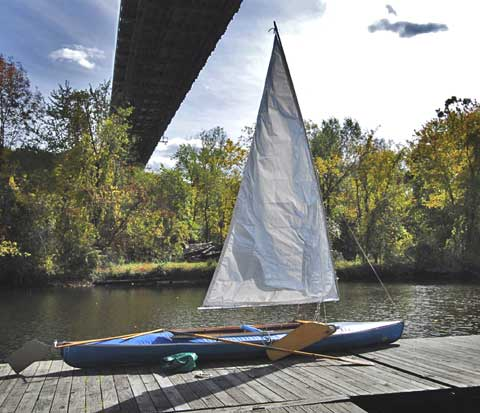 Folbot 17' folding kayak, 1970 sailboat