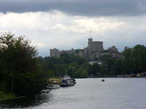 View of Windsor Castle from the Thames River
