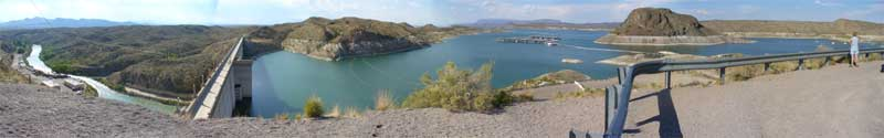 View from overlook near Elephant Butte dam