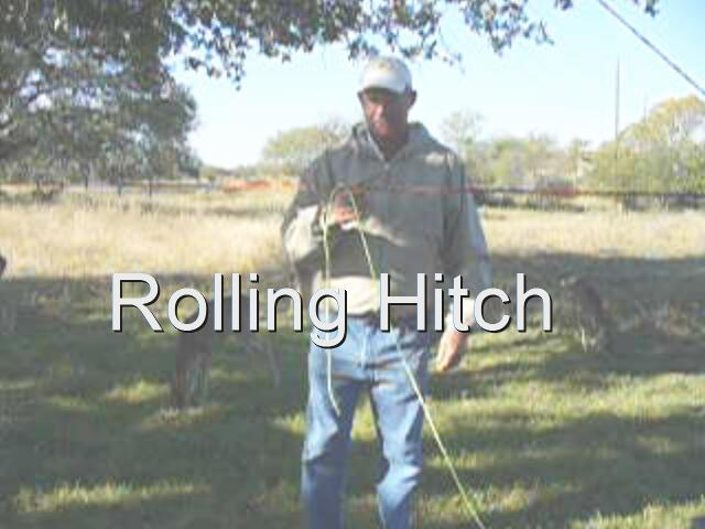 click for large Rolling Hitch video