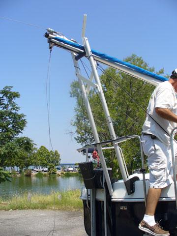 1998 Rhodes 22 mast crutch