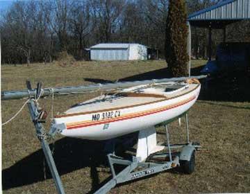 1984 America 17 sailboat