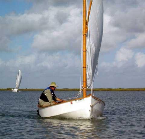 Click for Video of Bolger Bobcat sailboat