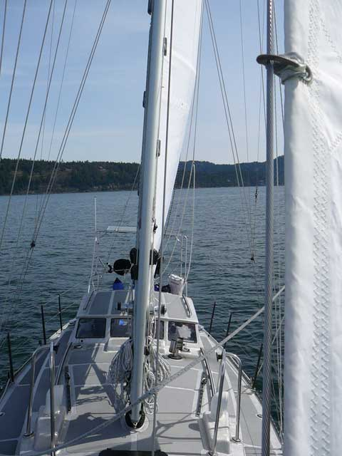Brewer Custom Aluminum sailboat
