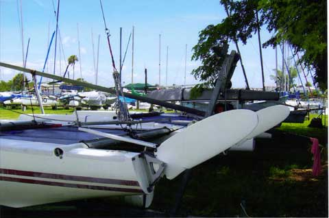 Dart 18 catamaran sailboat