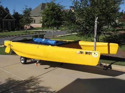 Escape Playcat sailboat