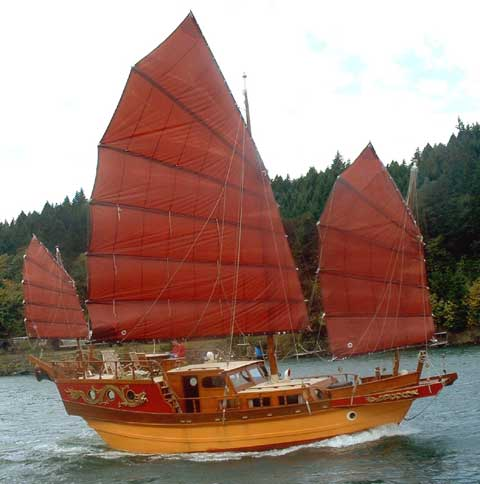 Flying Dragon Junk sailboat
