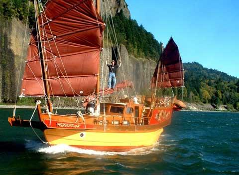 Flying Dragon Junk sailboat
