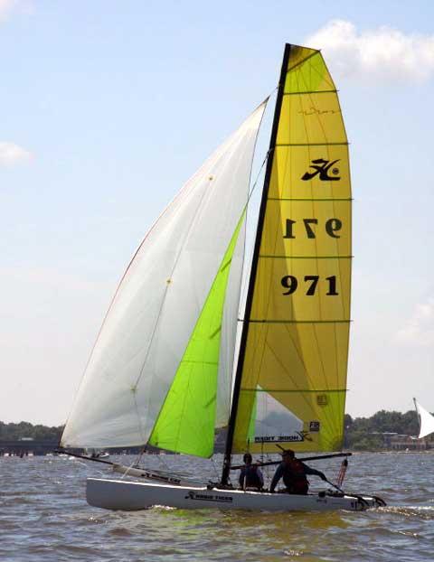 Hobie Tiger F18 sailboat
