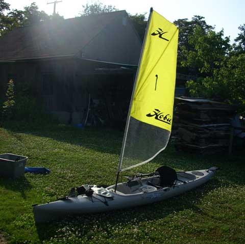 Hobie Mirage with sail sailboat