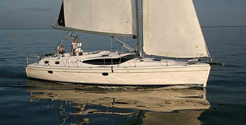 Hunter 50 center cockpit sailboat