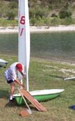 1974 Laser sailboats