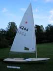 197? Laser sailboat