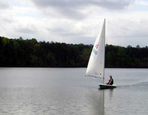 Laser sailboat