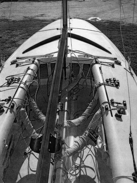 Melges E Scow sailboat