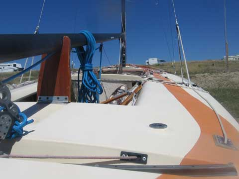 Johnson E Scow sailboat