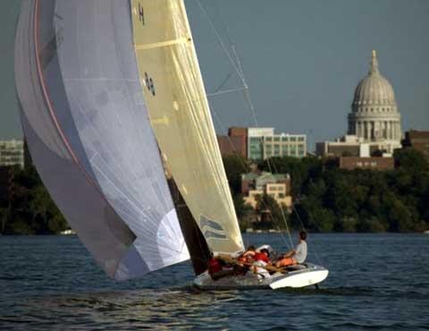 Melges A Scow sailboat