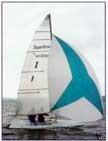 1995 Melges Super Scow 16 sailboat