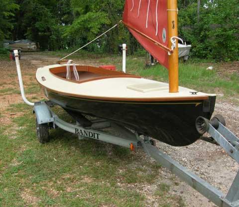 Melonseed sailboat