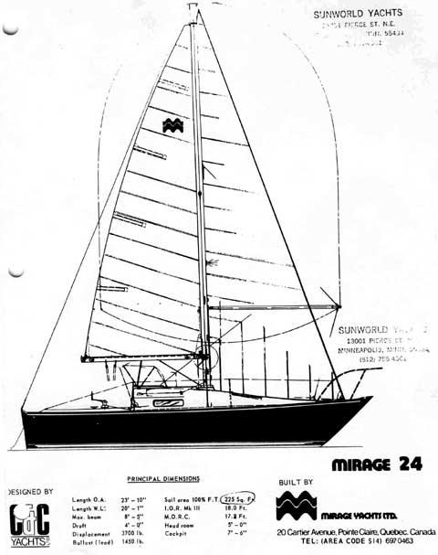 Mirage 24 sailing boat