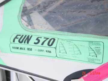 1994 Mistral SS2 sailboard