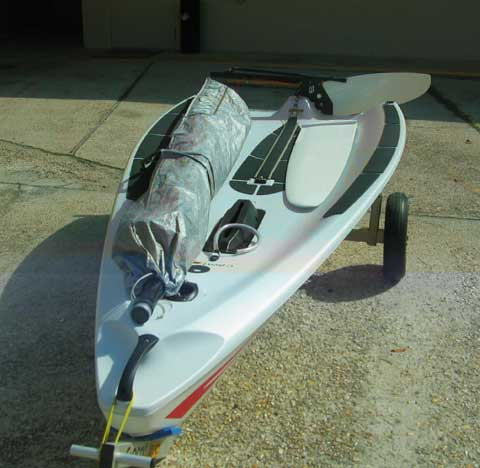 Open Bic sailboat