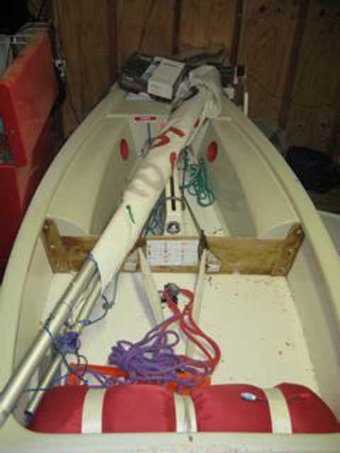 Optimist sailboat