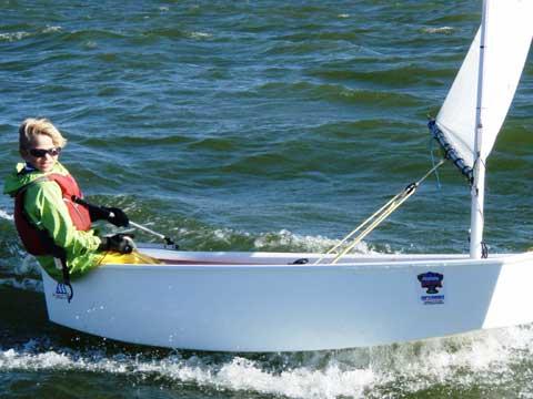 McLaughlin Optimist sailboat