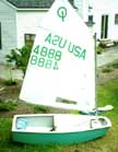 1995 Optimist sailboat