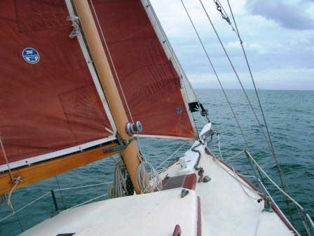 Parker 37 cutter sailboat