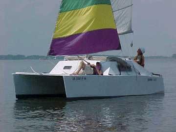Pocket Cat 18, under sail