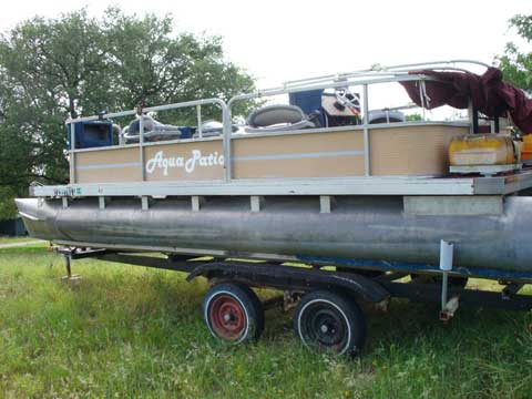 David Luckenbach's Pontoon boat, 20 ft sailboat