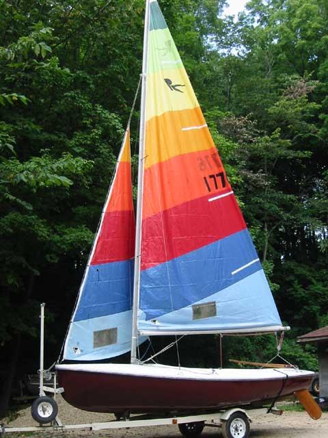 Rebel 16 sailboat