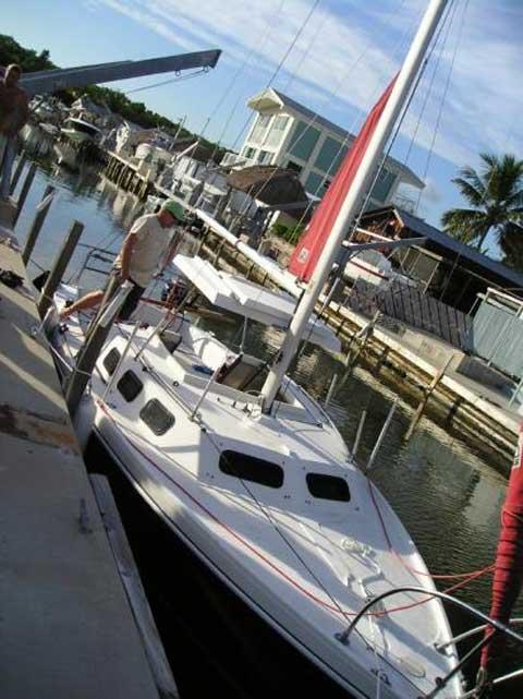 Rhodes 22 sailing boat