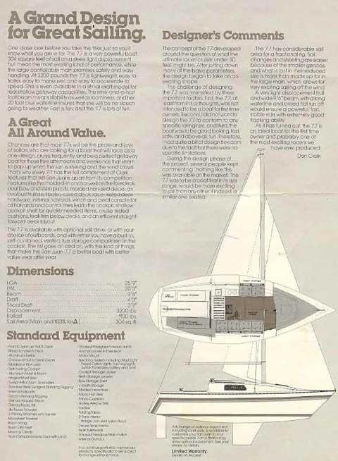 San Juan, 7.7, 1982 sailboat