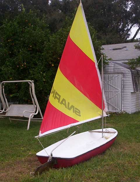 Snark sailboat rudder