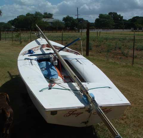 Snipe sailing boat