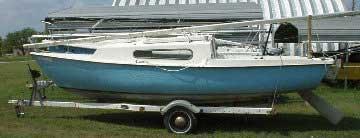 South Coast 22 port side on trailer