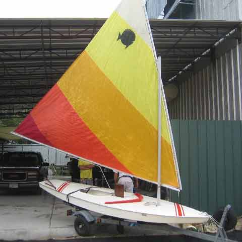 Sunfish sailboat