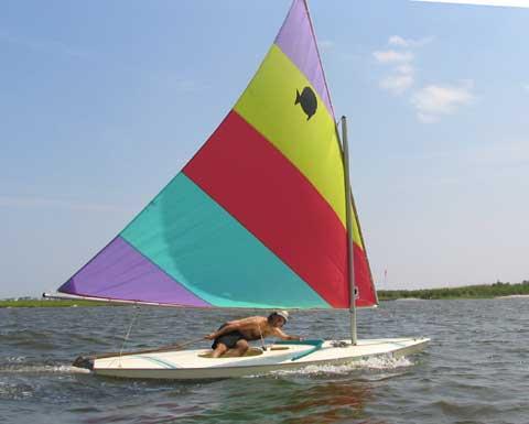 Sunfish sailboat