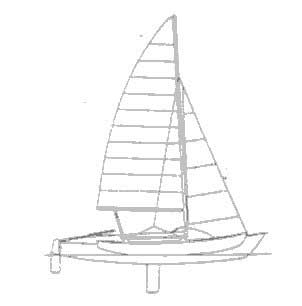 1979 Tremolino trimaran sailboat