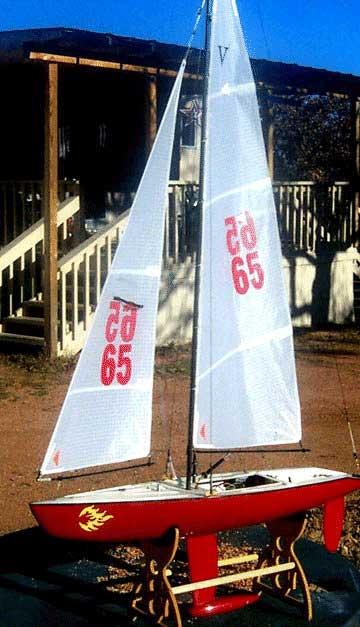 Victoria radio controlled sailboat