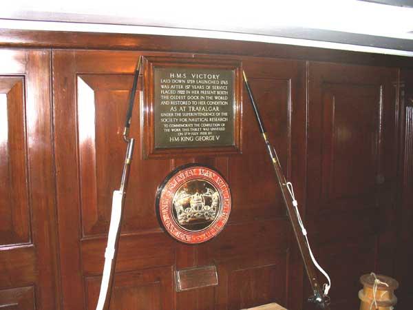 Commemorative plaque.