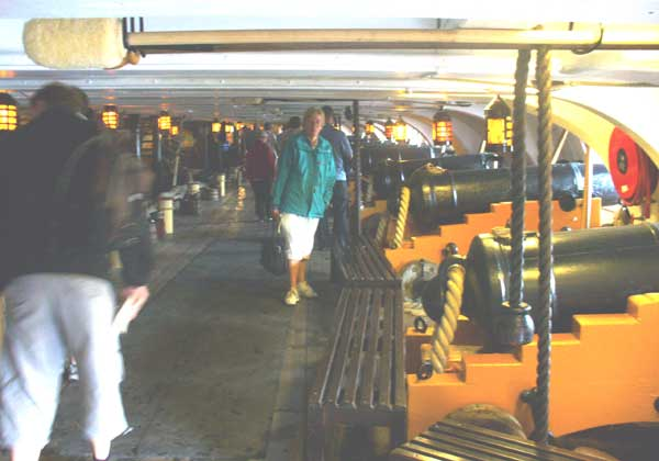The lower gun deck