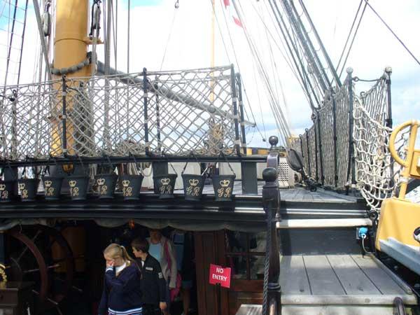 The mizzen mast