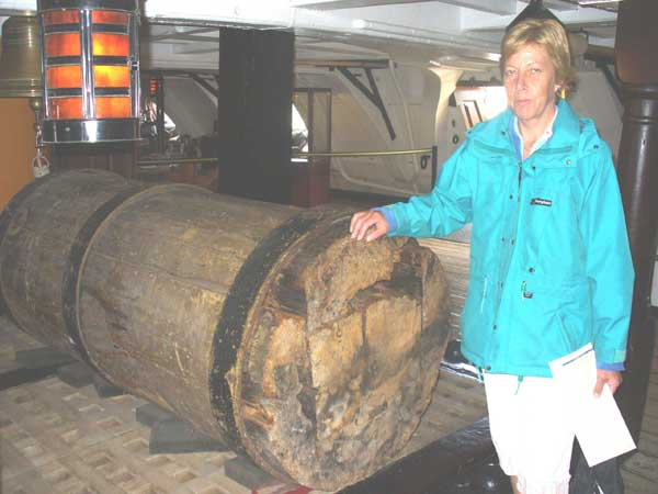 A piece of the 1805 foremast.