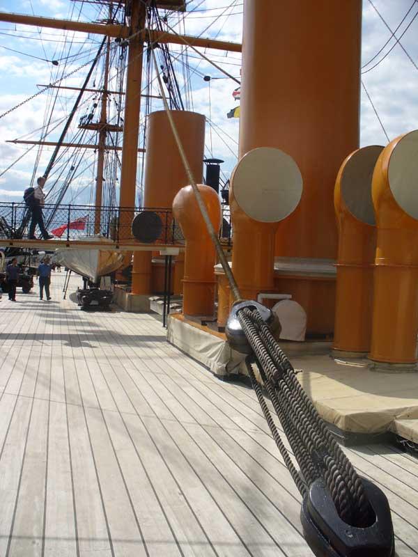 Starboard deck, looking sternward