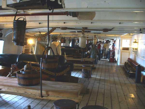 The main guns of the HMS Warrior