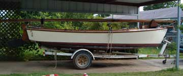 18' Wooden Sailboat sailboat
