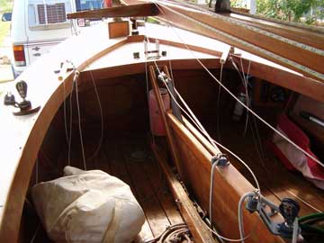 18' Wooden Sailboat sailboat